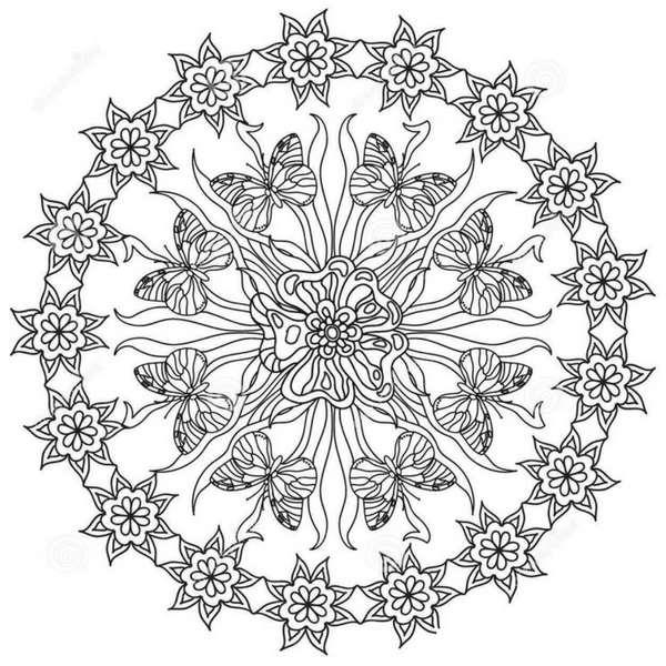 Mandalas con mariposas: Significado y diseños para colorear con ...