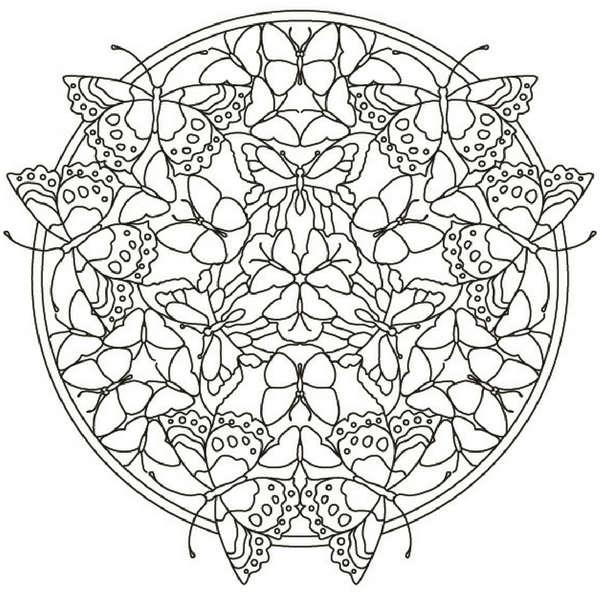 Mandalas Con Mariposas Significado Y Diseños Para Colorear Con