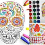 Mandalas calaveras mexicanas para colorear