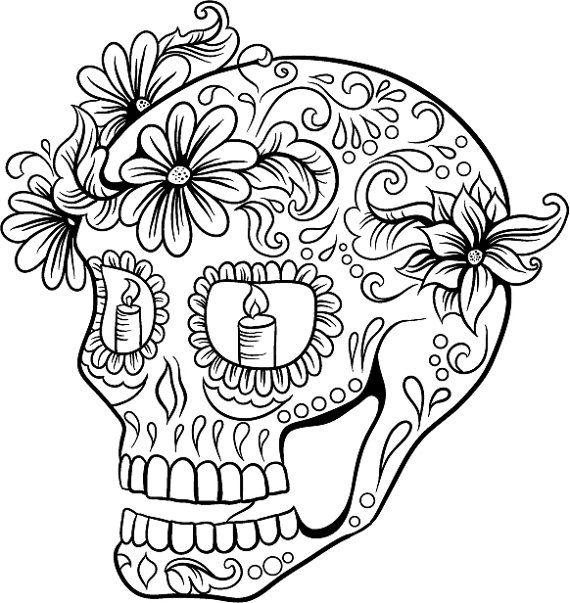 Mandalas calaveras mexicanas para