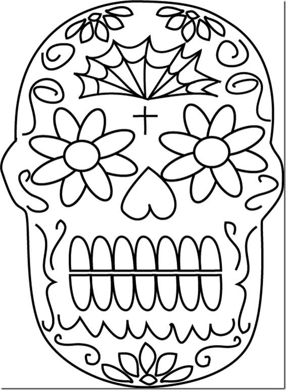 Mandalas calaveras mexicanas para colorear - Mandalas