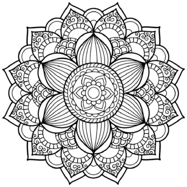 bonitos mandalas budistas y dibujos zen para colorear los adultos mandalas. Black Bedroom Furniture Sets. Home Design Ideas