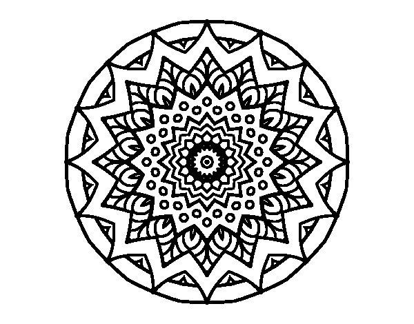 Mandala Blanco Y Negro Para Descargar E Imprimir Mandalas