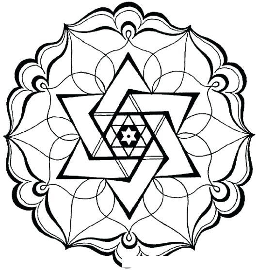 Mandalas con estrellas para colorear, tatuar, dibujar, imprimir ...