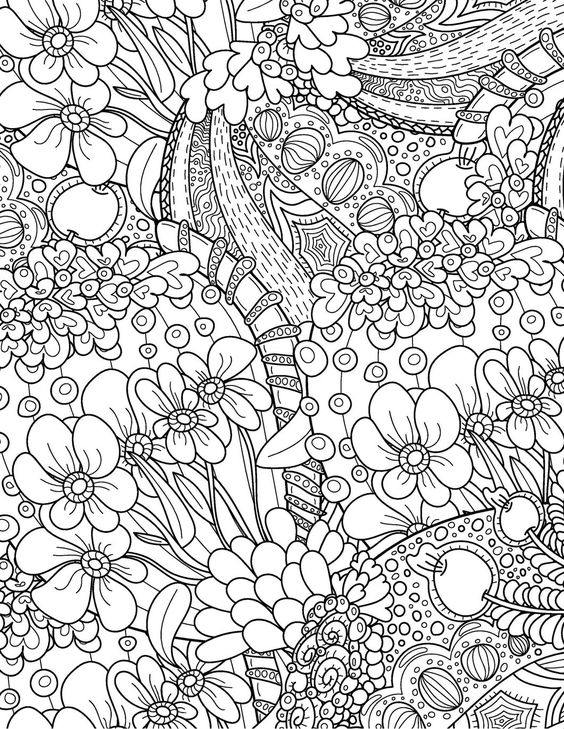 professional coloring pages flowers - photo#19