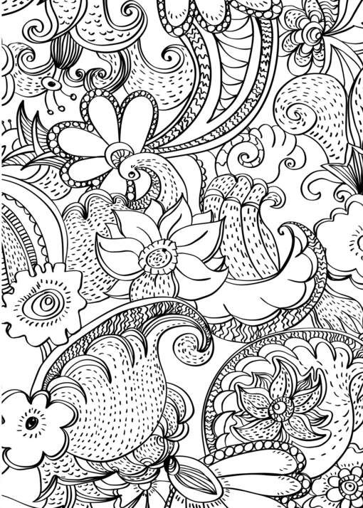 professional coloring pages flowers - photo#47