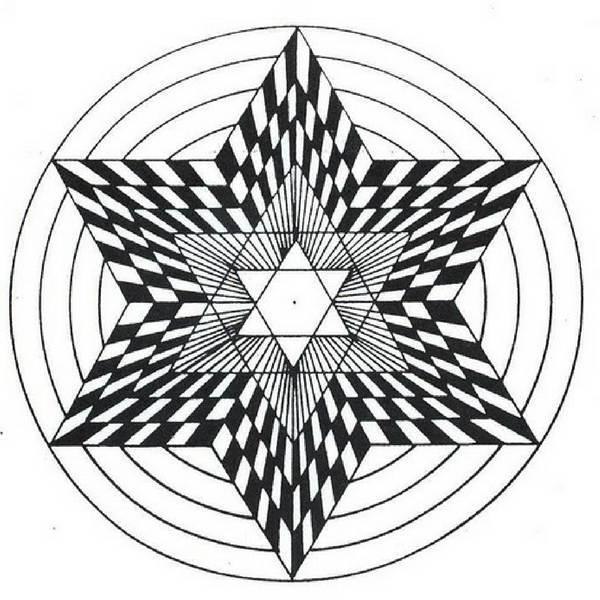 Mandalas Con Estrellas Para Colorear Tatuar Dibujar Imprimir