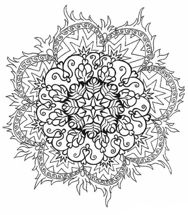 Mandalas con henna: Tatuajes temporales Mehandi - Mandalas