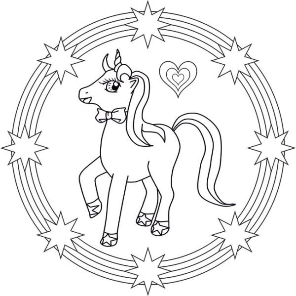 Mandalas De Unicornios Para Pintar E Imprimir Mandalas