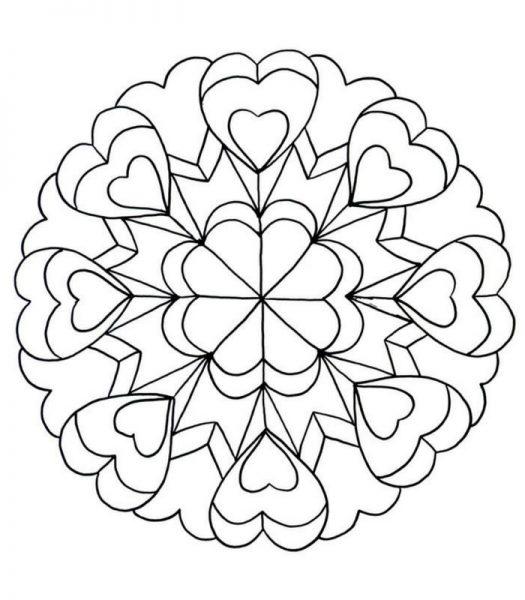 Mandalas De Amor Hermosos Para Hacer Descargar E Imprimir
