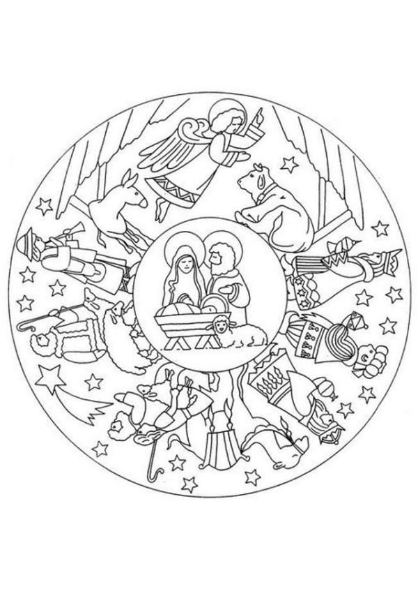 Mandalas navideñas para imprimir y colorear - Mandalas