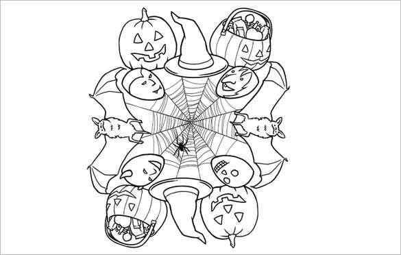 Arañas De Halloween Para Colorear: Mandalas Para Imprimir Y Colorear En Halloween 2018