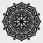 Mandala blanco y negro para descargar e imprimir