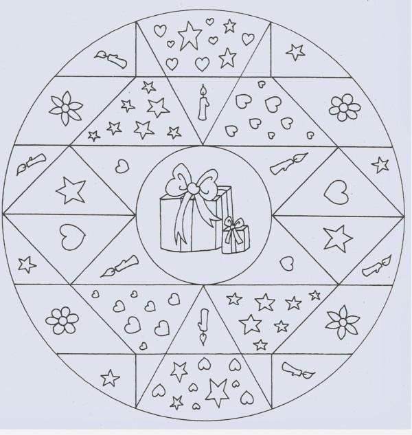 Mandalas Navideñas Para Imprimir Y Colorear Mandalas