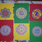 Mandalas didácticos con letras para colorear