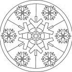 Mandalas de invierno para colorear